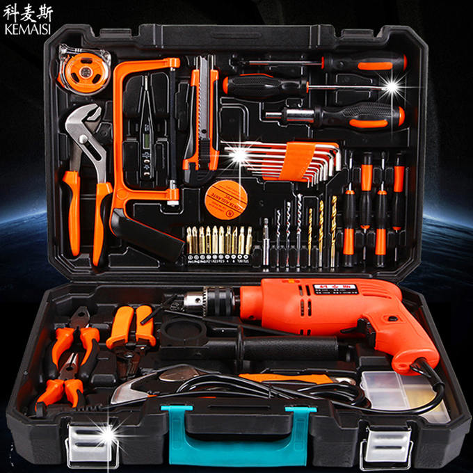 科麦斯五金工具套装 德国家用木工工具箱电工维修